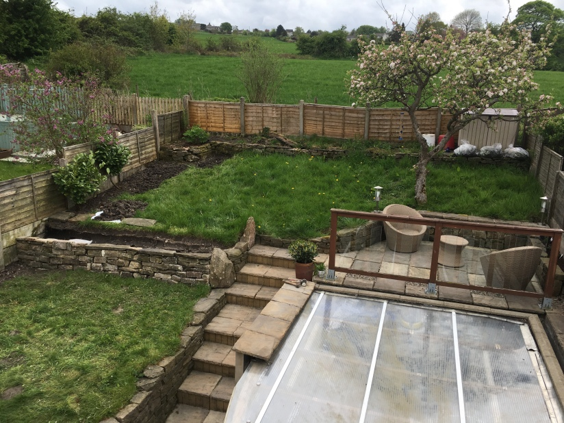 Back garden before May work