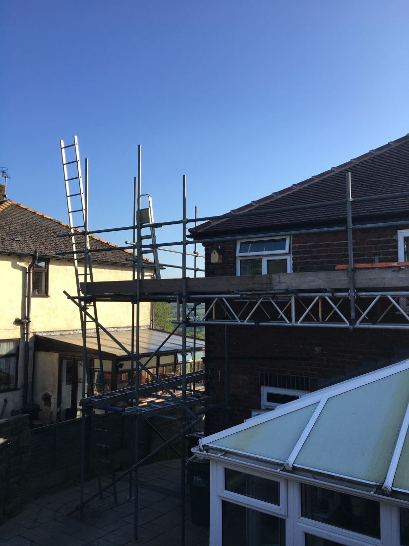 Scaffolding in place