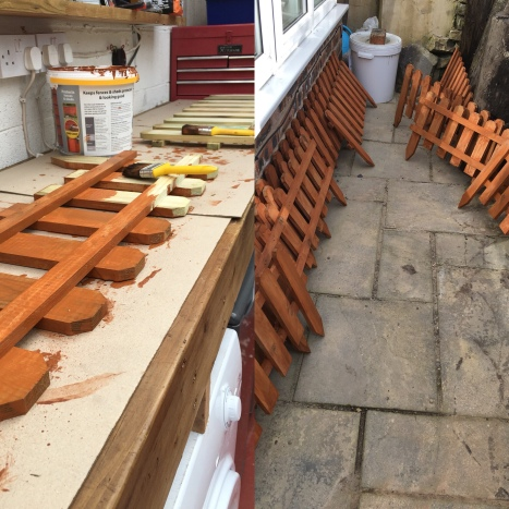 Painting picket fence