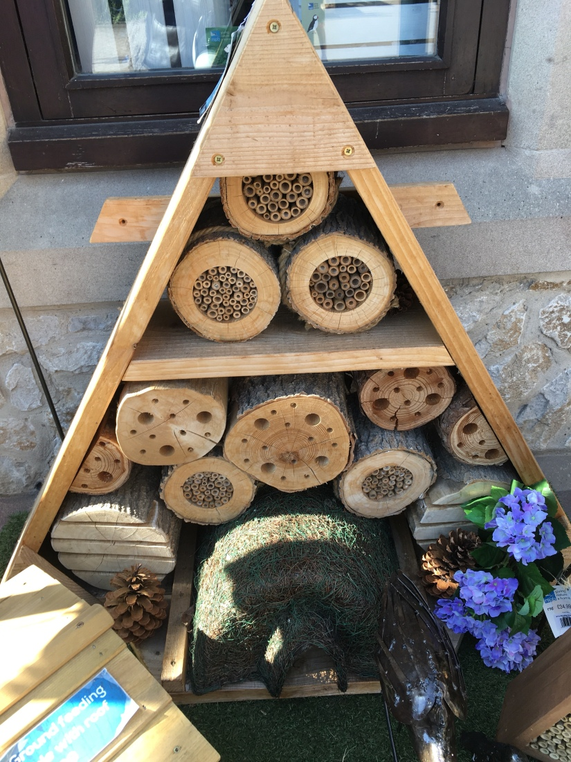 Huge Bug Hotel at RSPB shop